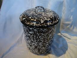 vintage enamelware splatter ware canister set from sweetcandy on