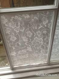 How To Frost A Bathroom Window Lace Window Treatment With Cornflour Annabel Vita