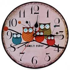 Shabby Chic Wall Clocks by Modern Design Wooden Wall Clock Owl Vintage Rustic Shabby Chic