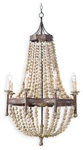 How To Make A Beaded Chandelier Wood Beaded Chandeliers Houzz