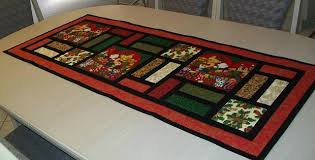 make christmas table runner make a beautiful stained glass runner quilting digest