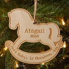 First Christmas Personalized Ornaments - our beautiful personalized wood ornament is a special way to