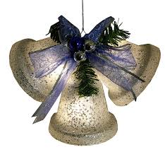 battery operated lighted christmas bows 8 5 silver glittered battery operated lighted led christmas bell