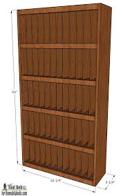 Bookcase Plan Remodelaholic Divided Bookcase Building Plan