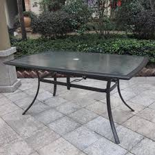 Patio Dining Table Fantastic Rectangular Patio Dining Table With Pebble Lane Living