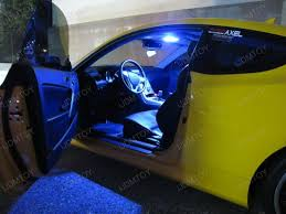 Car Interior Blue Lights 2010 Hyundai Genesis Coupe Goes Up With Led Interior Lights
