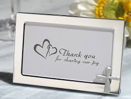 picture frame wedding favors cross accented metal photo frame favor