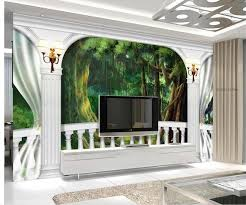 télé pour chambre 3d papier peint pour chambre colonne balcon tv papier peint
