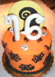birthday cake halloween halloween themed sweet 16 small cake cakecentral com