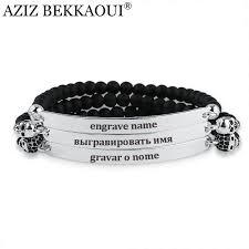 european bead charm bracelet images Aziz bekkaoui onyx beads charm bracelets for women men stainless jpg