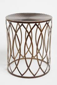 Quatrefoil Side Table Quatrefoil Teal Blue Metal Drum Table Mediterranean Side With