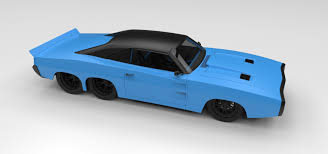 concept dodge dodge charger six wheeled concept 3d model cgtrader