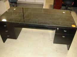 wood desk with glass top glass top for desk glass top desk with storage altared co