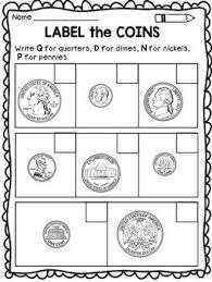 coin identification worksheet 22 best teaching math images on teaching math