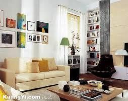 Biege Sofa Living Halls Modern Living Halls Beige Sofa And A Bookshelf