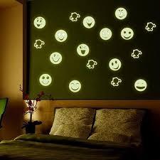 stickers pour chambre d enfant drôle smiley visage lumineux mur autocollant emoji visage stickers