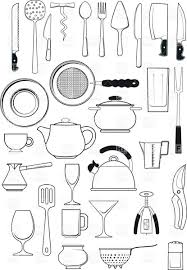 tableware kitchen utensils silhouettes download royalty free