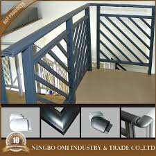 2016 latest cheap price simple stair railing design black color
