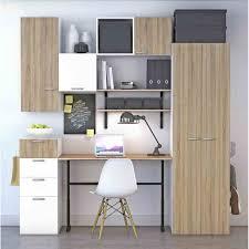bureau armoire et ordinateur scandinave bureau bois decoration de bureau bois