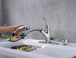 amazon kitchen faucets delta 468 sssd dst cicero single handle pull out kitchen faucet