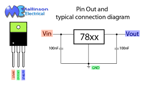 three terminal ic regulator wiring diagram components