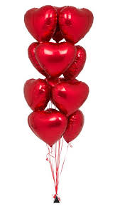 valentines ballons heart shape foil balloon bouquet 12 pcs heart shape foil balloon