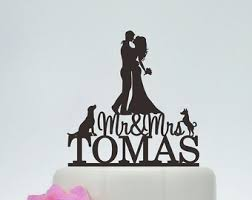 cake toppers for wedding cakes dog cake topper etsy