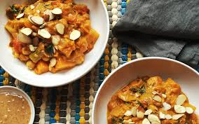 african root vegetable stew with almonds almond board of california