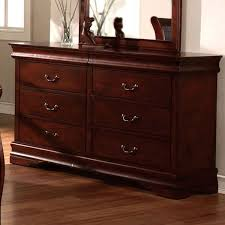 Cherry Wood Nightstands Louis Phillipe Classic Cottage Style Cherry Finish Bedroom Dresser
