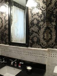 Wallpapers For Bathrooms Black Floral Wallpaper For Bathrooms