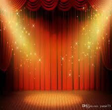 Studio Curtain Background 2017 5x7ft Vinyl Digital Red Curtain Gold Start Spotlight Stage