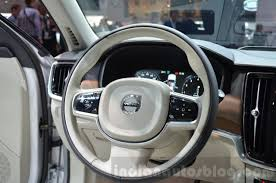 volvo steering wheel volvo v90 steering wheel at 2016 geneva motor show indian autos blog