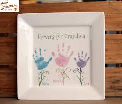 keepsake plate handprint flowers ceramic keepsake plates and