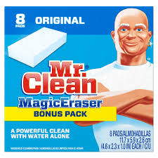 Mr Muscle 5 In 1 Bathroom Cleaner Amazon Com Mr Clean Magic Eraser Bath Scrubber 4 Count Pack Of