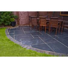 creative blue black slate patio slabs room design ideas lovely