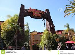 Map Universal Studios Hollywood Jurassic Park Ride At Universal Studios Hollywood Editorial Image