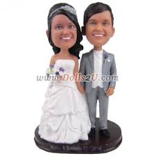 personalized wedding cake toppers custom wedding cake topper bobbleheads 129 90 dolls2u