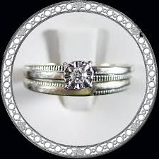 engagement rings size 8 14k white gold wedding set with promise engagement ring size 8