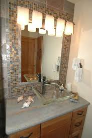 Mosaic Bathroom Mirror Mosaic Tile Around Bathroom Mirror Designs