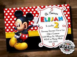 mickey mouse 2nd birthday invitations mickey mouse birthday invitation mickey mouse clubhouse