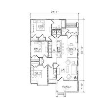 Centralized Floor Plan by Carson I Bungalow Floor Plan Tightlines Designs