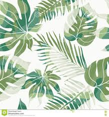 Tropical Flowers And Plants - tropical exotic flowers and plants with green leaves of palm