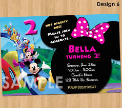 Minnie Invitation Card Minnie Mickey Mouse Clubhouse Invitation Printable Birthday