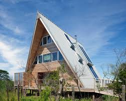 Modern Two Storey House With Streamline Roof by A Frame Roof Houzz