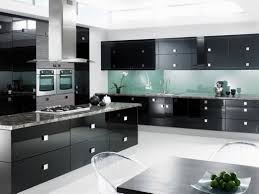 black extra large built in oven cool black white island black