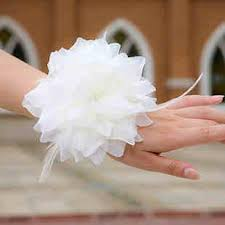 Wedding Wrist Corsage Wedding Wrist Corsage White Feather Beautiful Flowers Wedding