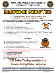 halloween safety tips the borough of pine hill u201ctrick or treating u201d pine hill police