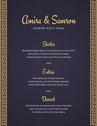 indian menu template blue and yellow indian wedding menu templates by canva