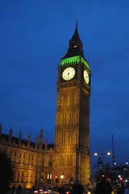 London Clock Tower by Palace Of Westminster Aka Houses Of Parliament London At Night Inel