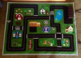 Car Play Rugs Car Felt Play Mat Designed For My Grandchildren 2015 Toys